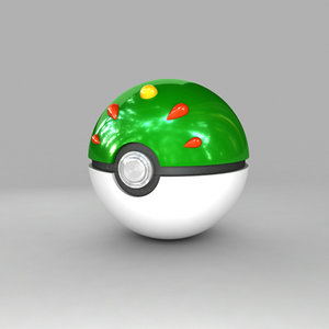 pokemon ball 3d max