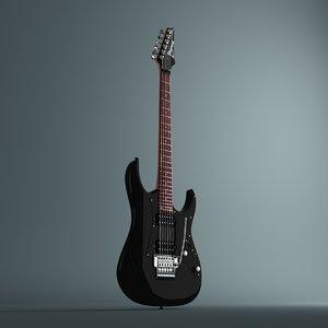 3d electric guitar ibanez grg model