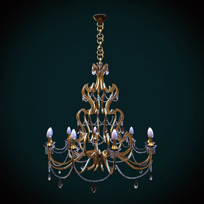 mechini chandelier 3d model