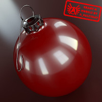 christmas tree ornament 2010 3d max