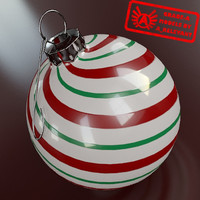 3dsmax christmas tree ornament 2010