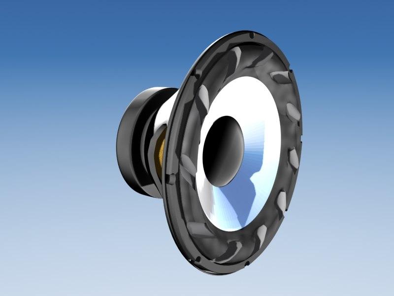 3d speaker alto-falante model