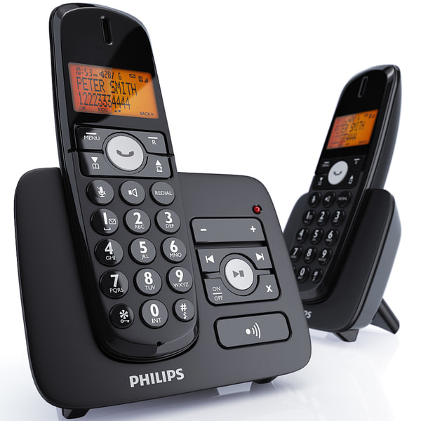 3d philips xl cordless phone model