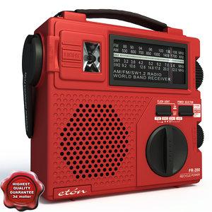 3d portable radio eton fr200 model