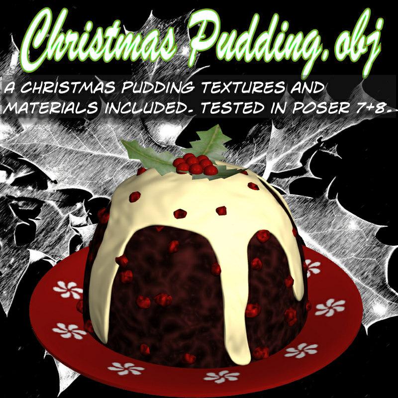 3d pudding christmas model
