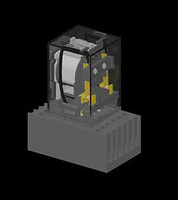 free relay 8 pin 3d model