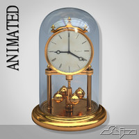 table clock animation 3d 3ds
