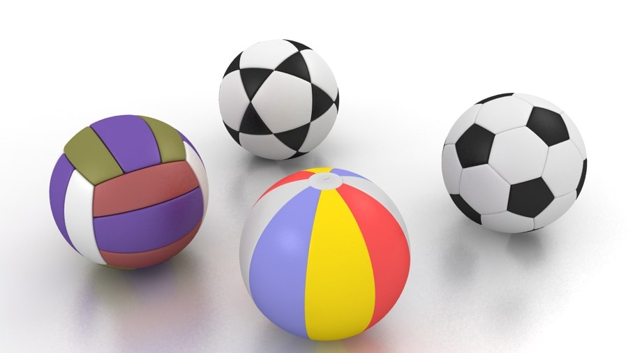 max balls footballs basketball