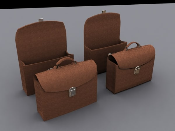 leather bag 3ds