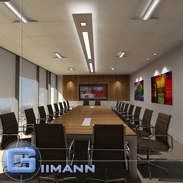 3d model boardroom room