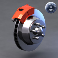 3d max vehicle brake