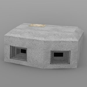3d bunker military model