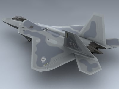 3ds max f-22a usaf f-22