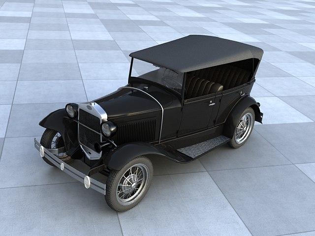 3d model gaz car gazik