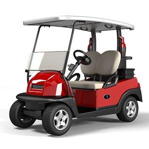3d model golf car