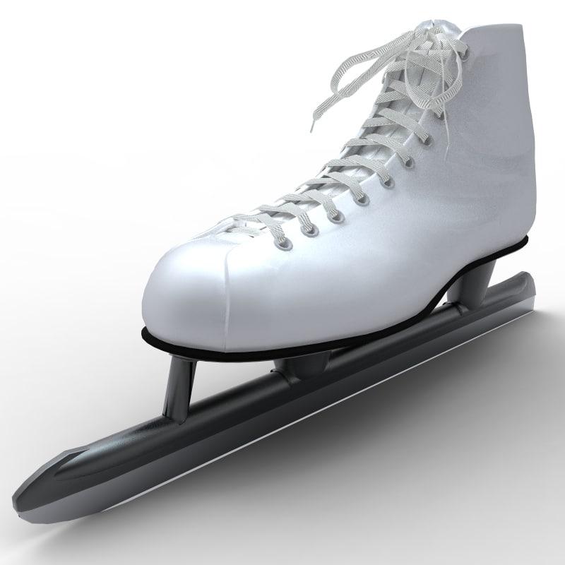 classic ice skate obj