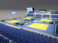 3ds max sports center judo