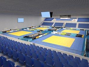 3ds max sports center judo