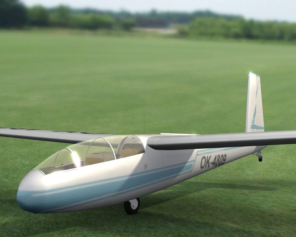 l-13 glider 3d c4d