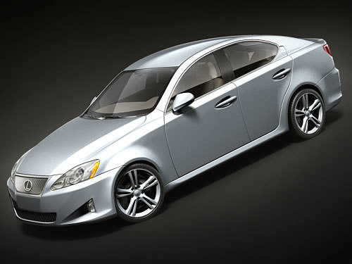 lexus is350 2008 sedan 3d model