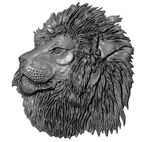 lion relief 3ds