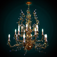 mechini chandelier 3d max