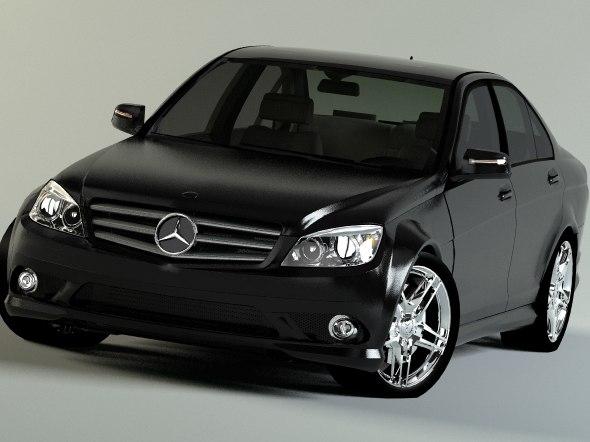 3d model mercedes-benz c class