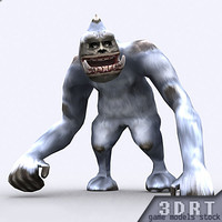 fantasy yeti monster animations 3d model