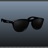 3d model frogskin black