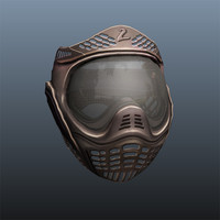 3d paintball mask model