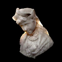 3ds max female marble bust
