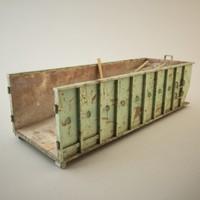 studio rolloff dumpster 3d model