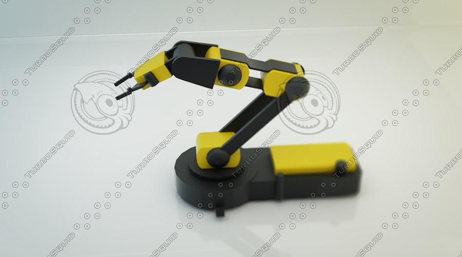 3d max robotic arm