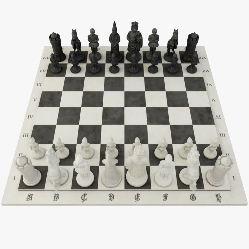 3ds max chess games figure