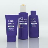 3d model skin care bottles