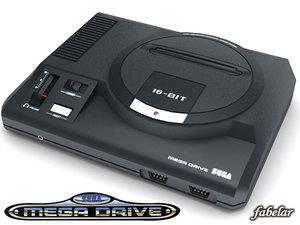 3d sega megadrive console model