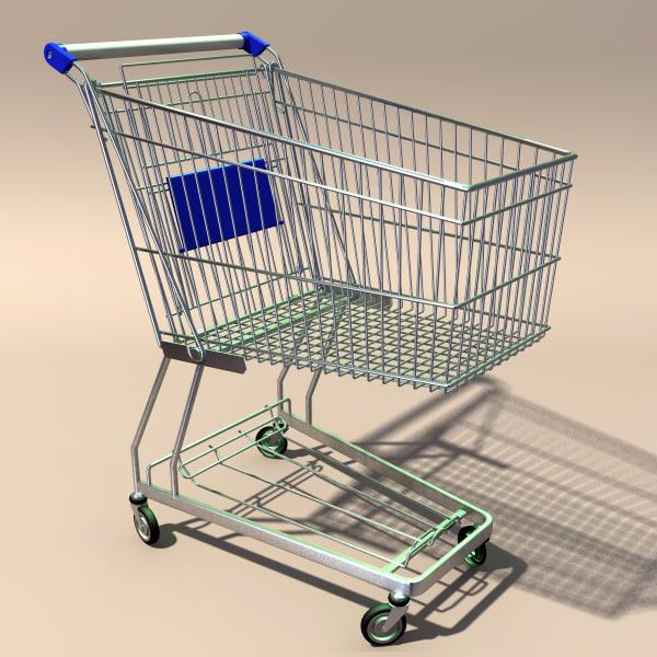 shopping trolley cart 3d 3ds