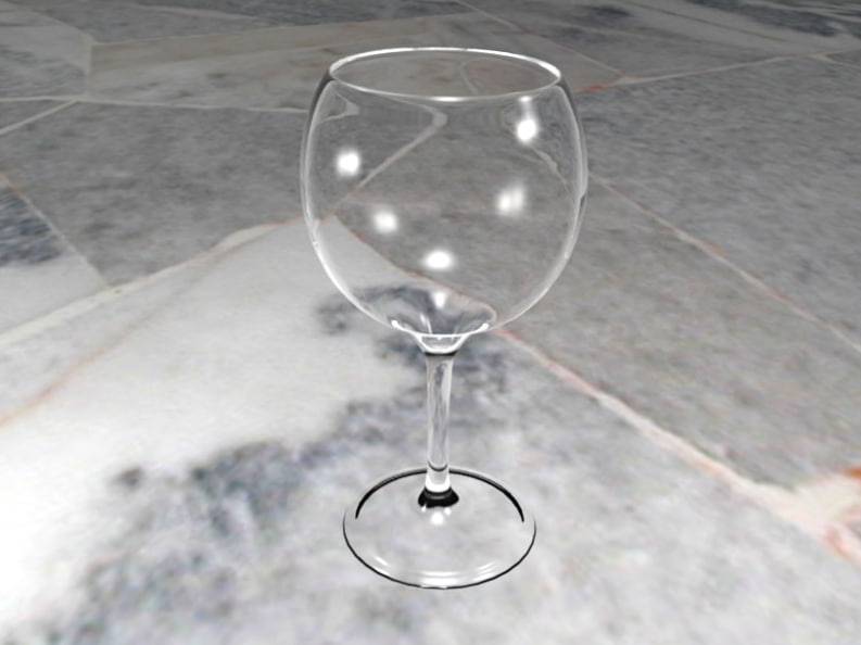 glass wine goblet obj free