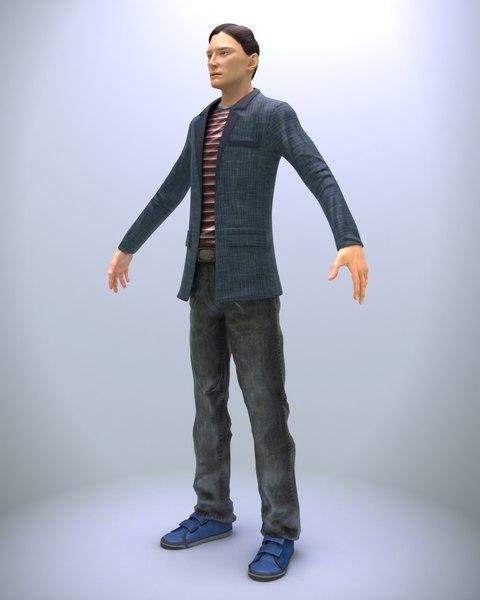 3d realistic driver man character
