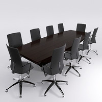 CONFERENCE TABLE & CHAIRS - Mental Ray Materials
