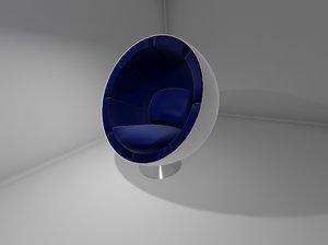 eero aarnio egg chair 3d model