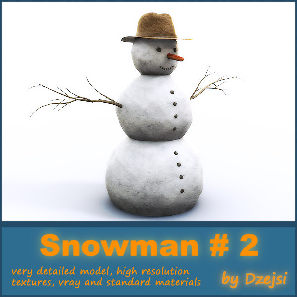 snowman branches hat max