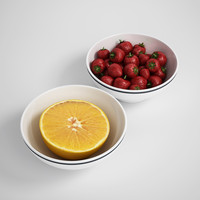 breakfast fruit bowl 3d max