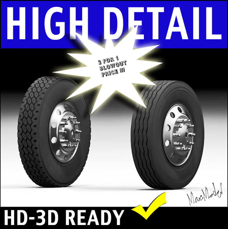 Semi Truck Tires Near Me >> Semi Truck Tire Rim 3d Model
