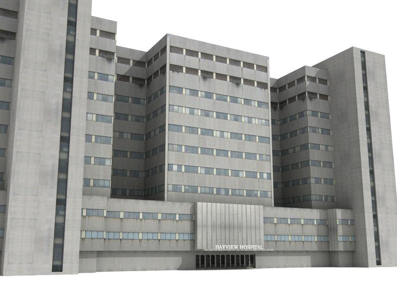 hospital building 3d max
