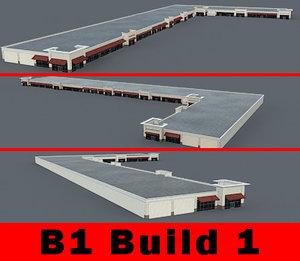 3d building b1 complete retail model