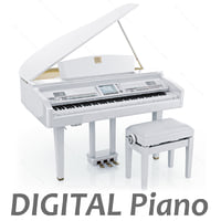 3d digital grand piano yamaha model