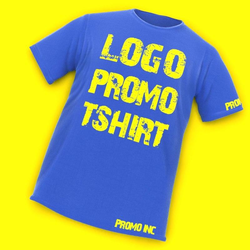 promo t-shirt 3d max