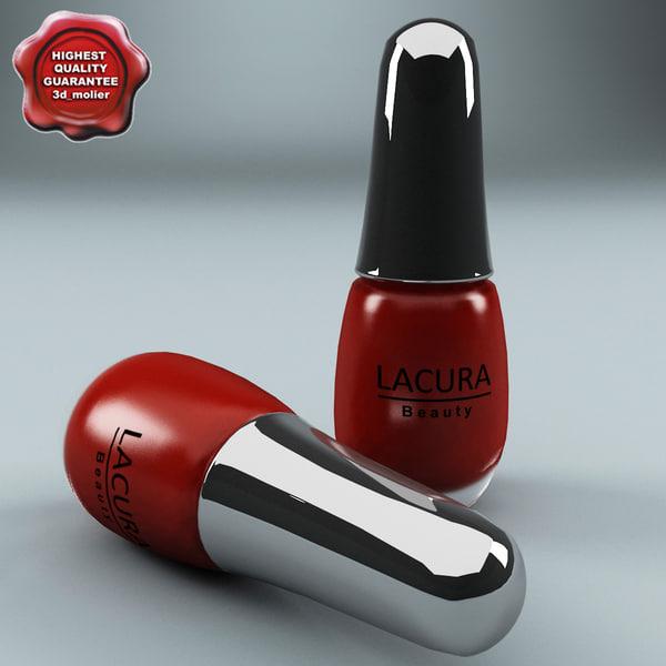 cosmetics varnish lacura 3d max