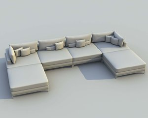 modern architectural modo 3d model
